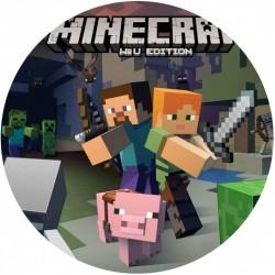Cialda per torta Minecraft...