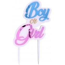 CAKE TOPPER BOY OR GIRL PLEX