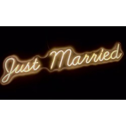 Scritta Led Just Married
