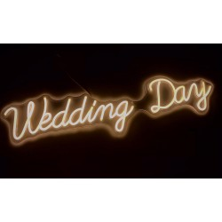 Scritta Led Weedding Day