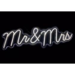 Scritta Led mr&mrs