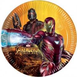 8 Piatti Avengers 20 cm