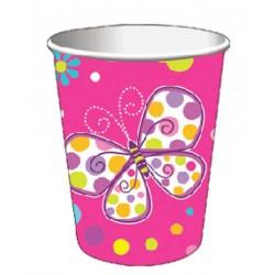 Bicchieri Farfalle