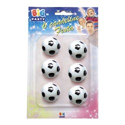 6 Candeline Palloni Calcio