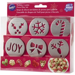 HOLIDAY COOKIE PRESS DISC...