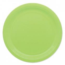 Piatti di carta 24 cm Verde...