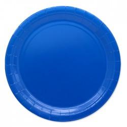 Piatti di carta 24 cm Blu...