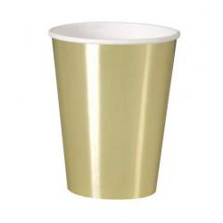 Bicchieri di carta Oro 8 pz...