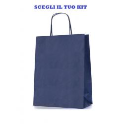 Shopper di Carta di Colore Blu