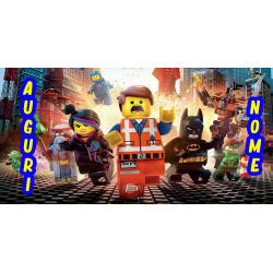 LEGO MOVIE POSTER FONDALE...