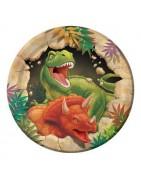 Coordinato festa dinosauri, articoli festa dinosauri, piatti dinosaur