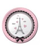 Coordinato festa parigi, articoli festa parigi, piatti parigi