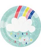 articoli personalizzati per feste arcobaleno , festa a tema arcobaleno