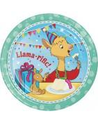 articoli personalizzati per feste Llama Party, festa a tema Llama Part