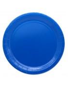 articoli per festa monocolore blu, addobbi tavola di carta blu