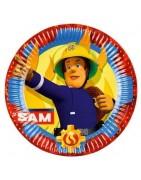 Coordinato festa sam pompiere, articoli festa sam pompiere, piatti sa
