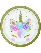 articoli personalizzati per feste unicorno , festa a tema unicorno