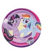 Coordinato festa little pony, articoli festa little pony, piatti littl